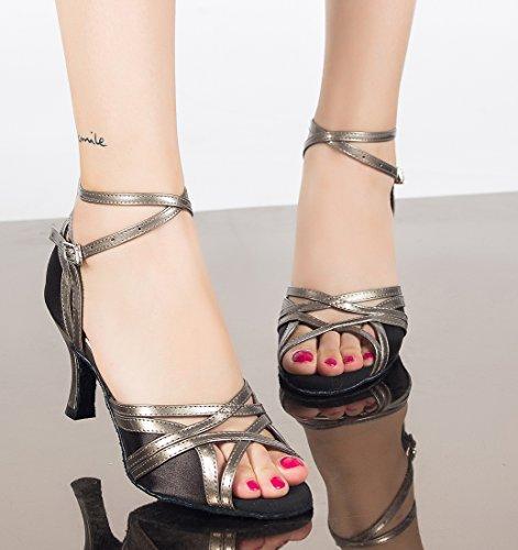 TDA - Strap alla caviglia donna 7.5cm Heel Grey