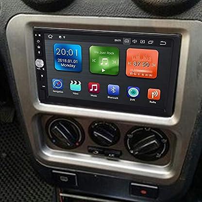 Garsent-Autoradio-Navigation-Android-81-WiFi-Auto-Multimedia-Player-mit-GPS-Cortex-A35-Quad-Core-2G-16GB-Autoradio-MP5-Player-Bluetooth-20-Untersttzung-AUX-USB-SD-AMFM-Radio-Rckfahrkamera