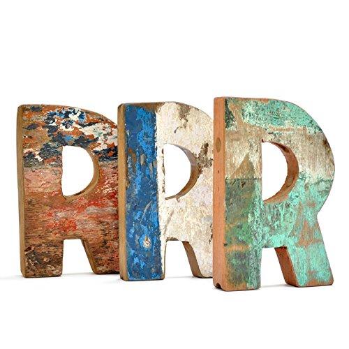 Letra R de madera reciclada - Fantastik