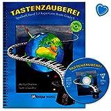 Tastenzauberei Spielheft Band 5 - Klavierschule von Aniko Drabon mit CD,Online-Audio und bunter herzförmiger Notenklammer - Verlag Mitropa Music 2045-15M 9789043145961