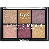 NYX Professional Make Up Cosmic Metals Palette Ombretti, 6 Ombretti Metallizzati