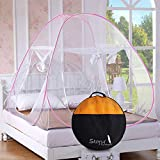 Story@Home Double Bed Foldable Mosquito Net (White, Polyester)