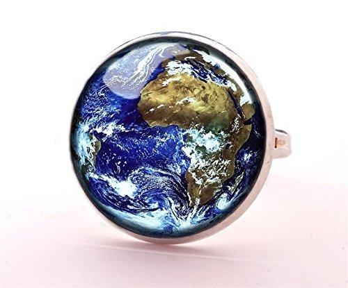 Schmuck Cocktail Ringe Kostüm - Earth Ring, earth Schmuck, Weltkarte, Welt Karte Schmuck, Globe Ring globe, Schmuck, Karte Ring, Meer, Ocean Ring, Hot Ring, Mode Ring,