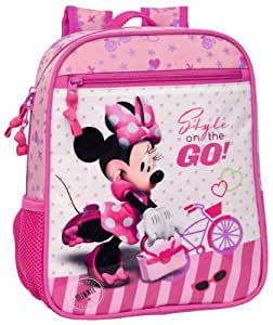 Disney Genuine Childrens Kids Boys Girls Bags and Luggage (Backpack Minnie Mouse Style on the go 28x23x10cm)