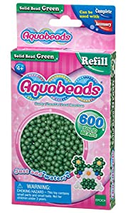 Aquabeads- Solid Beads, Color Verde (Epoch para Imaginar 32548)