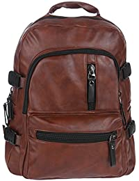 7da2b88333 Fur Jaden Brown Artificial Leather Casual Waterproof Backpack Bag for  School