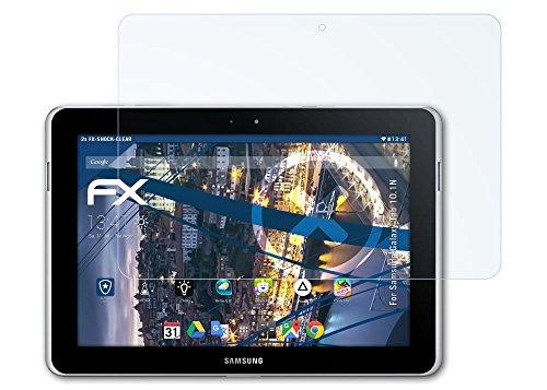 Samsung Galaxy Tab 10.1N Folie - 2 x atFoliX FX-Shock-Clear stoßabsorbierende ultraklare Panzerfolie Displayschutzfolie