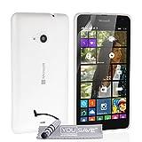 Yousave Accessories, custodia trasparente in gel di silicone con penna mini stilo, per Microsoft Lumia 535