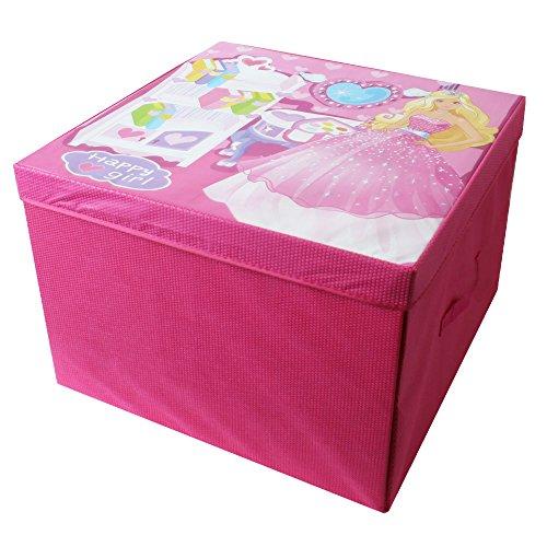 TE-Trend 2 in 1 Spieldecke Spielbox Spieltruhe mit Deckel Aufbewahrung Kinder Mädchen
