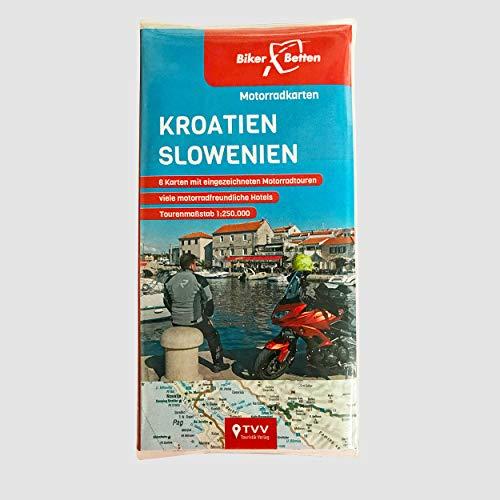 Motorradkarten Set Kroatien Slowenien: BikerBetten Tourenkarten 1:250 000