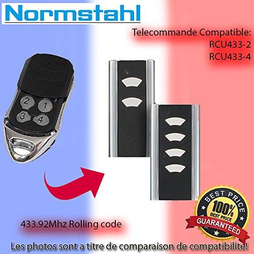 Compatible avec NORMSTAHL RCU 433-4 Télécommande de Remplacement