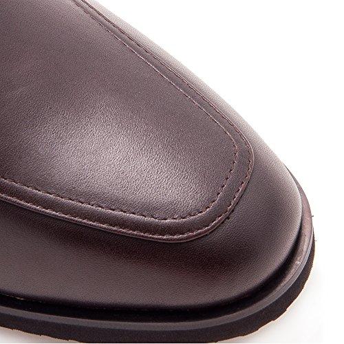 Zeraltos. Chaussures réhaussantes intérieur pour messieurs. Augmentation + 7cm. Materiel superieur: cuir de vache, respirant, confortable. Brun