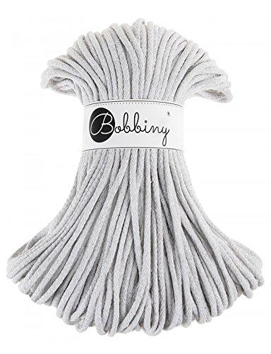Bobbiny Cords 5 mm - Rope-Garn 100 m (hellgrau) - Grau Cord