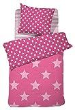 Damai - Starville - Bettwäsche-Garnitur - rosa / pink - 100 % Baumwolle - 135x200 cm / 80x80 cm