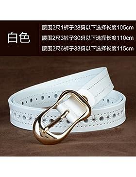 SILIU*Correa de cuero cuero mujer inocencia grabado cintura femenina ocio desglose la Sra. Cinturones Belt estilo...