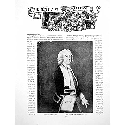 Imprima las Páginas de Capitán Cornewall Gainsborough AE Juan 4 de las Notas del Arte 1918 166Q150