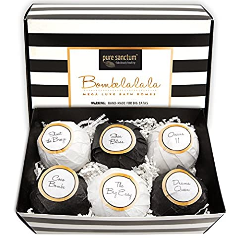 Bath Bombs Gift Set Luxury Bath Fizzies 6 Ultra Large
