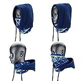 4 in 1 Face Cover Kapuze Maske Balaclava Hat, Kapuze Schleier Thermo Warm Wind Proof, Neck Warmers SehrGo Face Maske und Fleece Mütze, für Snowboard, SWAT, Ski, Motorrad, Winter Sport (Blau)