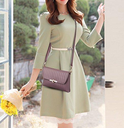 LAIDAYE Damen Handtasche Pack Tasche Handtasche Umschlag Tasche Schulter Diagonale Paket 4