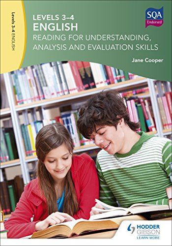 English : reading for understanding, analysis and evaluation skills. Levels 3-4