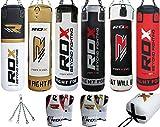 RDX Leder Boxen MMA Sack 4FT 5FT Boxsack Set Kickboxen