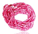 #5: 1 Strands of Pink Color Quartz Faceted Rondelle Loose Gemstone Beads, 2x4 mm 15 inch length, pink color, for jewelry making, wholesale price, exclusively by Ratnagarbha.