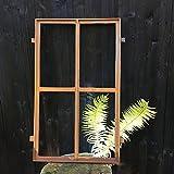 Antikas | Eisenfenster rechteckig | 75 x 47 cm | Sprossenfenster in Antik Optik