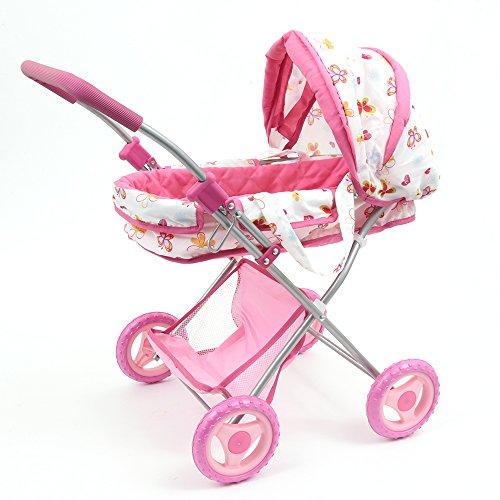 Mamatoy Mama MIA Glam, Cochecito de muñecas de Juguete, la fantasía de Las Mariposas y Las Flores MMA06000