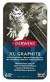 Derwent 2302010 Graphit-Stift, XL, 6 Stück