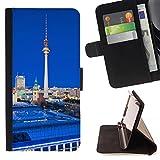 FJCases Berlin Deutschland Postkarte Ansicht Tasche Brieftasche Hülle Schale Standfunktion Schutzhülle für Samsung Galaxy S7 Active