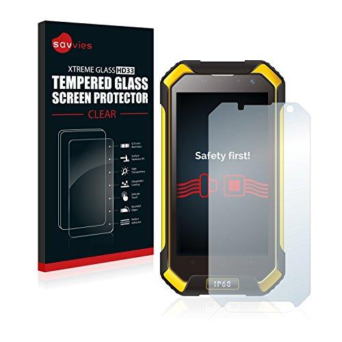 Savvies Protector Pantalla Cristal Templado Compatible con Blackview BV6000 - Dureza 9H