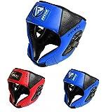 RDX JHR-F1 Caschetto di protezione per bambini, per MMA Kick Boxing Pugilato, Blu, Taglia unica