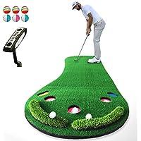 JHGEF Golf Mat Golf Putter Putter Pad Übungsmatte Einstellbare Steigung Bürohaus Tragbar 300 X 90 cm