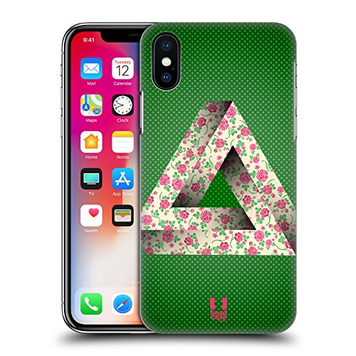 Head Case Designs Nebulosa Triangolo Di Penrose Cover Retro Rigida per Apple iPhone X Floreale