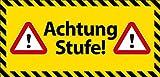 Vorsicht Stufe Schild -521- Stufe Verkehrsschild, ohne Befestigung