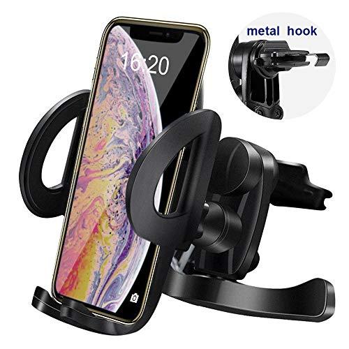 Ipow [facile montare] supporto telefono universale da auto da bocchette d'aria per smartphone iphone 8/7 plus/7/6/6 plus/6s/5s/5 & samsung galaxy s7/s6/s5/s4 htc huawei ecc