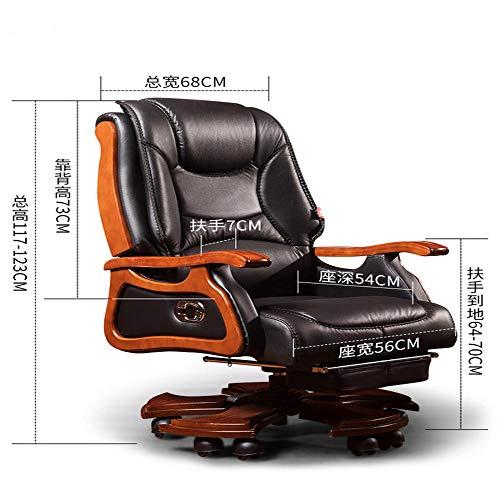 Stil-massage-stuhl (Chef Stuhl Leder Home Reclining Massage Executive Sitz Im Europäischen Stil Lift Drehstuhl Bürostuhl Computer Stuhl)