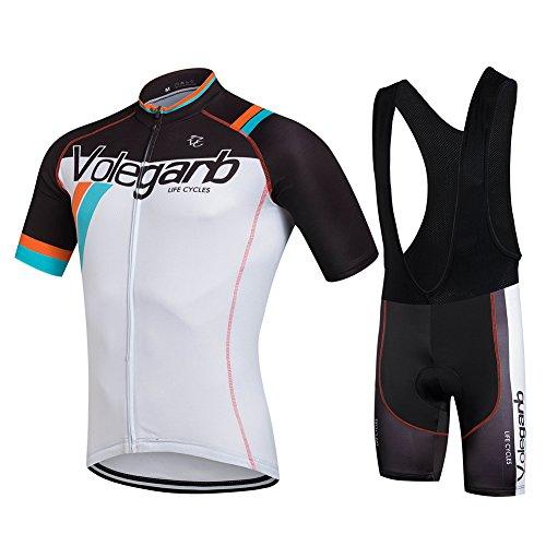 Fastar Maillot Ciclismo Verano para hombres y mujeres – Jersey de Manga Corta + Pantalones Cortos Ciclismo para bicicletas y moto