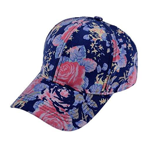 Damen New Baseball Cap Muster verstellbar Sport Outdoor-Hut., ZYJ-MZ-0019-20, Blau, ZYJ-MZ-0019-20 (Crown Cap Hüte)