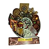 Indian Handicrafts Export Puja Starter Kit in Decorative Thali (26 Items)