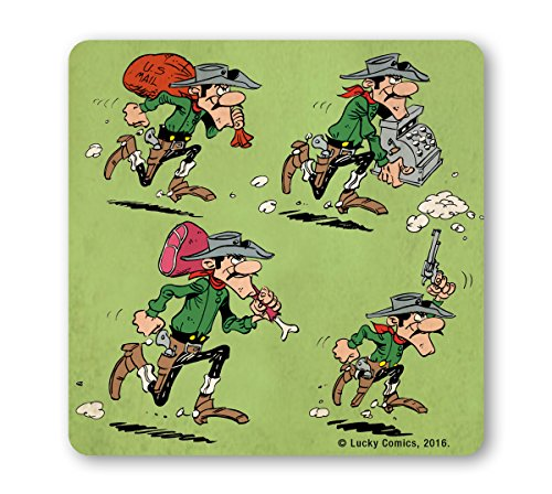 Lucky Lucke - Die Daltons - Robbery Coaster - Untersetzer - farbig - Lizenziertes Originaldesign - LOGOSHIRT (000 Rau)