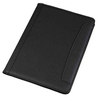 Alassio 30081 - Schreibmappe MESSINA im DIN A4 Format, Businessmappe aus Lederimitat, Dokumentenmappe in schwarz, Mappe ca. 32,5 x 24,5 x 2 cm