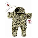 Build Your Bears Wardrobe 15-Inch Clothes Fit Build Bear Leopard Onesie by Build your Bears Wardrobe