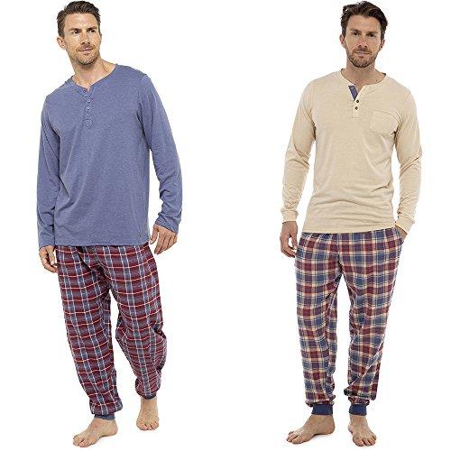 Neu Herren Weich Pyjama Perfect Sommer Frühling Hausanzug Atmungsaktiv Hosen M- XXL - CRAZY AUSVERKAUF SOLANGE DER VORRAT REICHT blau