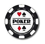"2 Sous Verres ""Poker"" Jeton"