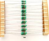 ELECTROBOT 100 PCS 10K OHM CARBON FILM RESISTORS .25 WATT TOLERANCE 5%