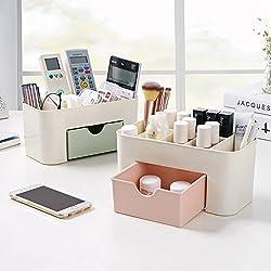 Egab Jewelry Organizer Cosmetics Office Storage Box Miscellaneous Stationery Make-up Organizer
