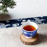 mocer Porzellan Tee Tasse Kaffee Büro Tasse 1japanischen Stil, Einzigartige Antik Blau und Weiß handgemalt Keramik Tee Tasse Porzellan Tee Schale klein mid-year