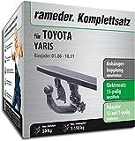 Rameder Komplettsatz, Anhängerkupplung Abnehmbar + 13pol Elektrik für Toyota Yaris (124441-05499-2)