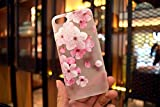 iPhone 8Fall & iPhone 7Fall, mondetechtm Pink Weiß Cherry Flower Blossom gefrostet transparent Soft Silikon TPU 3D